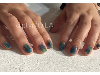【nail】blue see through