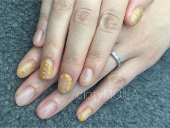 【NAIL】yellow tile 初7000円