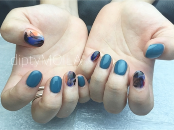【nail】autumn blue 初6,800円