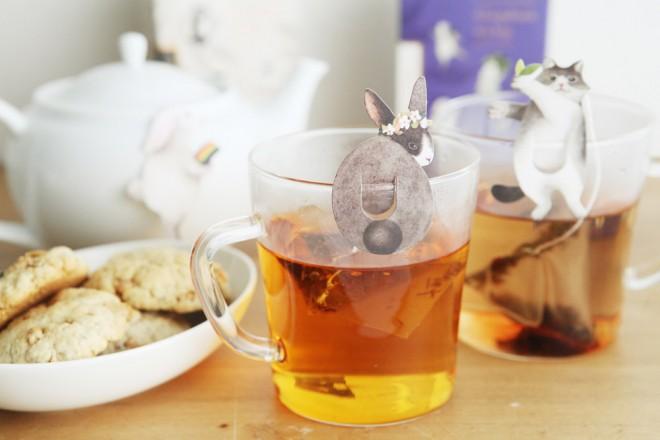 『うさぎとねこのティーバッグ Gongdreen Tea Bag』