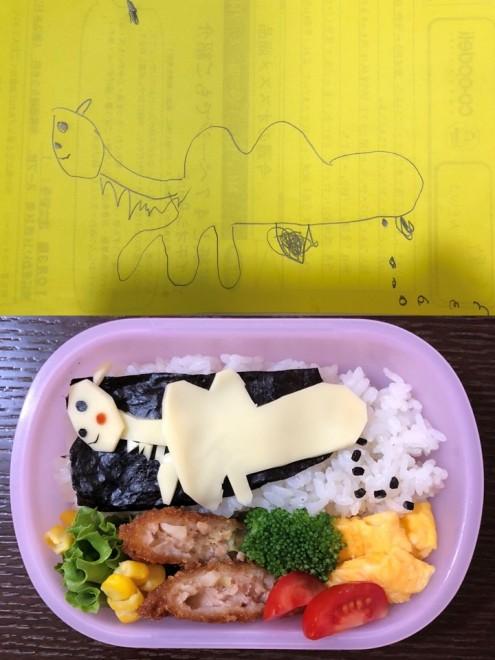 「恐竜弁当」恐竜のフンまで忠実に再現