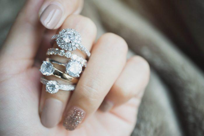 婚約指輪と結婚指輪のセット2