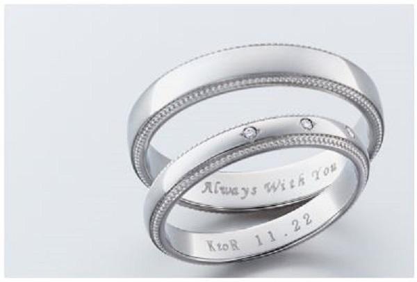 結婚指輪の素材のロゴ1