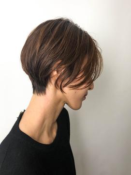 2020年春】【ハンサムショート】くびれが綺麗な前髪なしショート